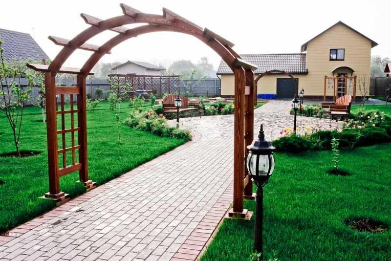Декоративные арки для сада